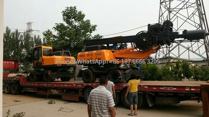 360 small rotary drilling rig delivery pictures