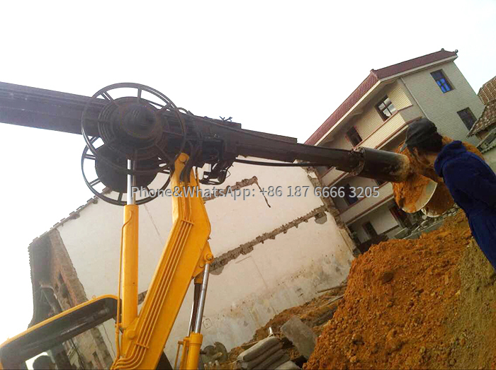 360 tire rotary drilling rig is suitable for soil pile drilling
