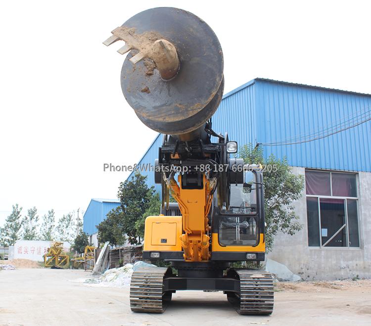 Full hydraulic crawler pile drilling machine