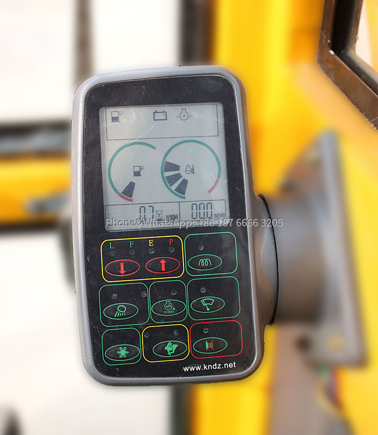 Rotary drilling rig angle display instrument