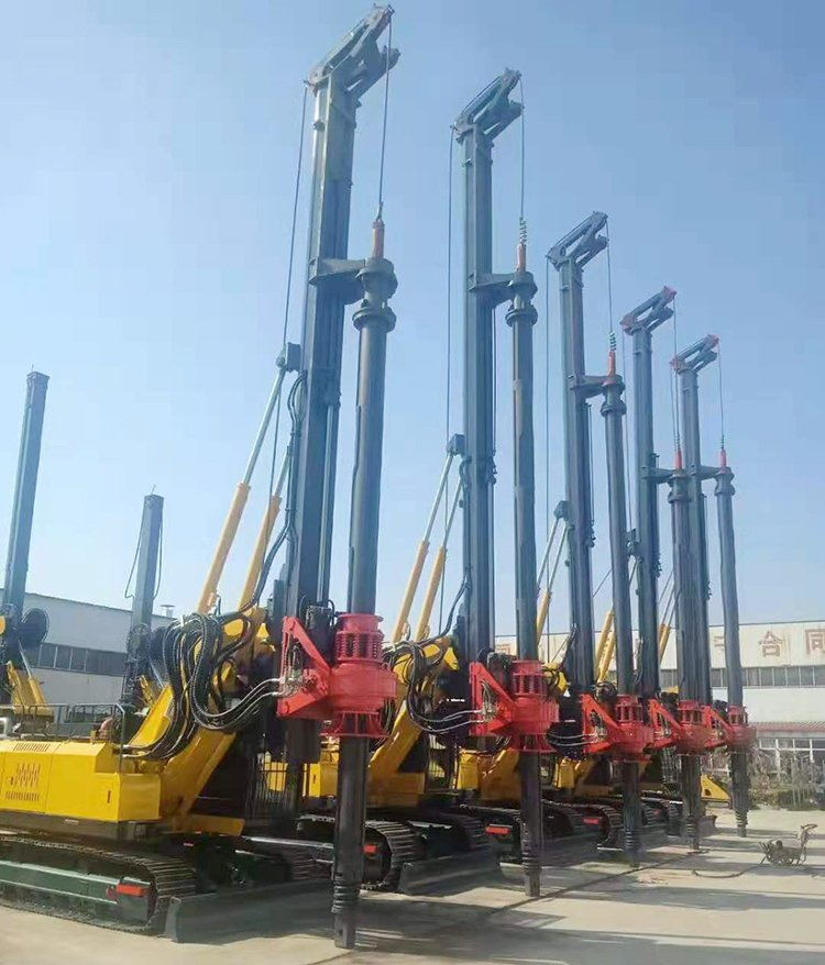 Hydraulic drilling rig construction site