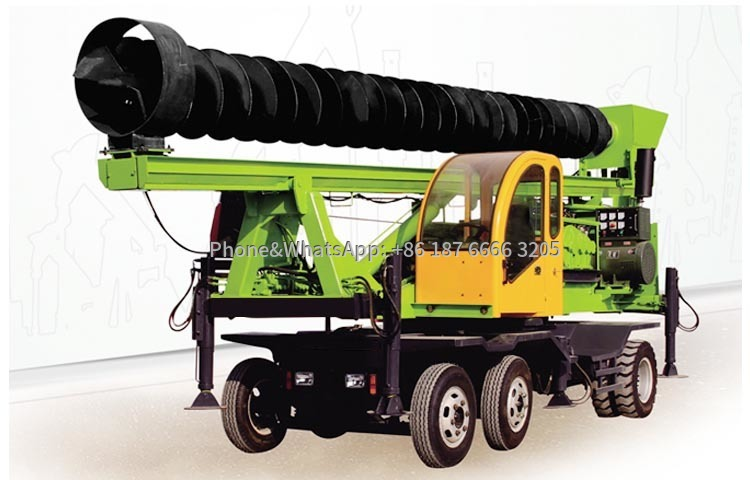 Picture of tire screw pile rig