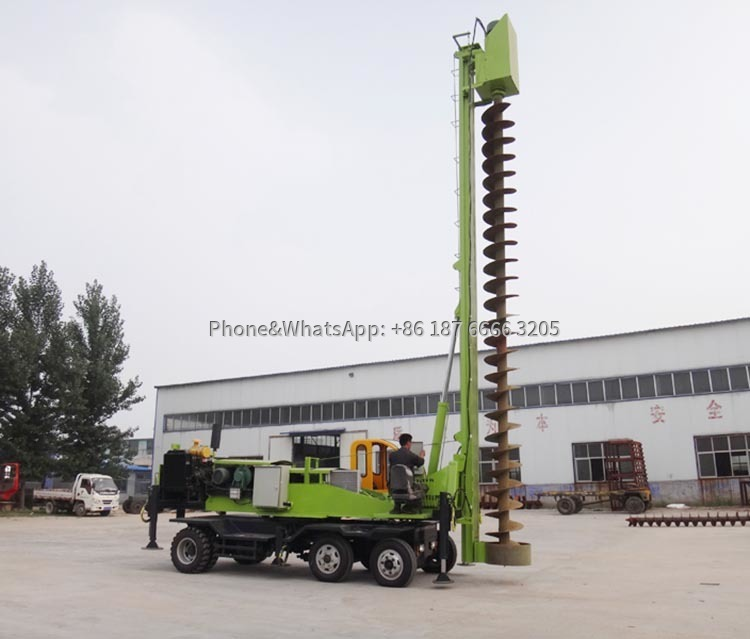 Pile rigs are widely used in architectural engineering and garden construction