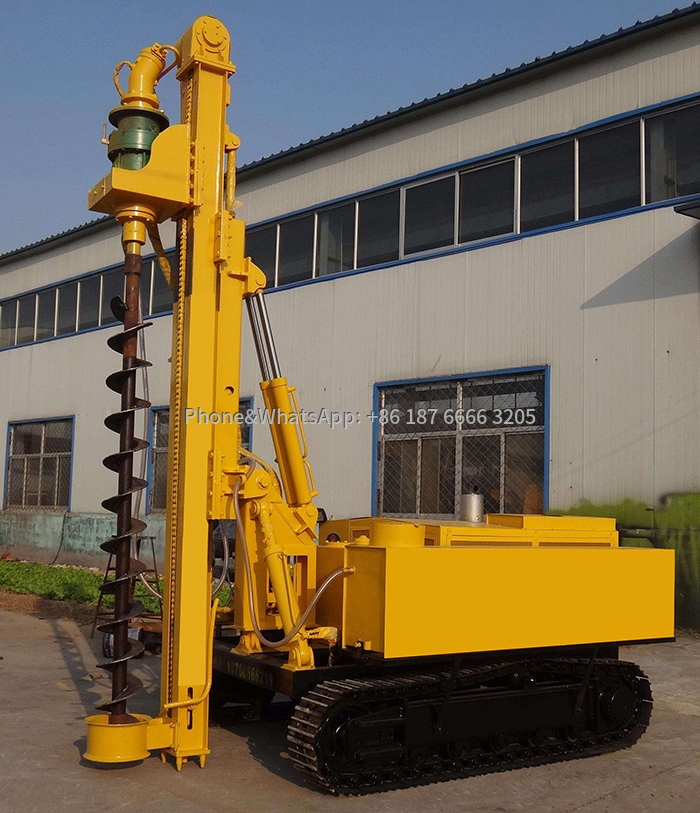 Picture of solar photovoltaic pile driver