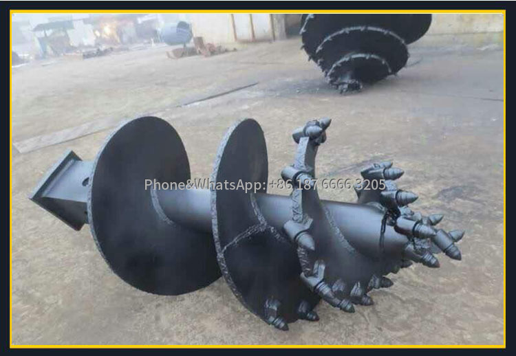 Picture of auger bit of rotary drill