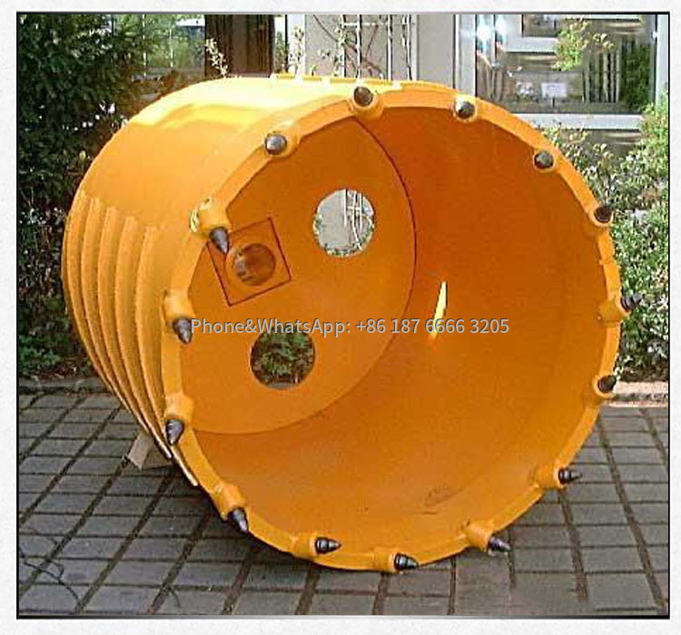Rotary drilling rig for rock drilling