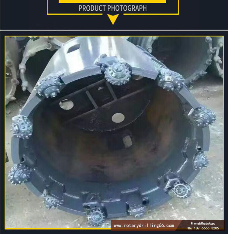 Picture of roller cone drill used by drilling rig to drill into rock formation