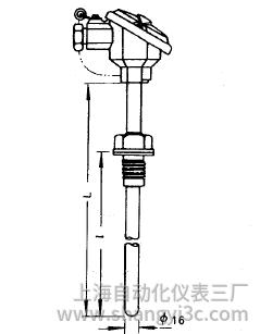 装配式热电偶固定螺纹式安装图片及尺寸