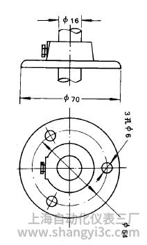 装配式热电偶活动法兰式安装图片及尺寸