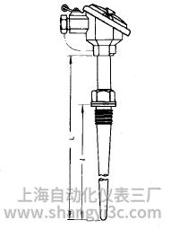 装配式热电偶固定螺纹锥形保护管安装图片及尺寸