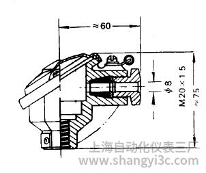 装配式热电偶防溅式接线盒图片及尺寸