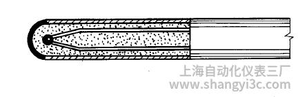 鎧裝熱電偶測量端(熱端)為絕緣式的結構形式