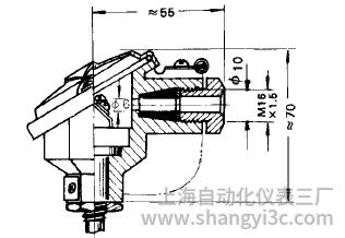 鎧裝熱電偶防濺式接線盒圖片及尺寸