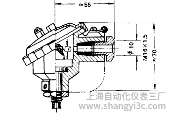 鎧裝熱電偶防水式接線盒圖片及尺寸