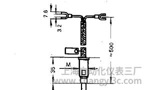 鎧裝熱電偶補償導線式接線圖片及尺寸
