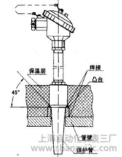 WZP-93C2套管式热电阻安装图片
