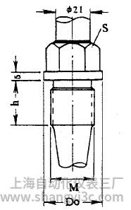 化工用熱電偶、熱電阻錐形保護管固定螺紋圖片尺寸