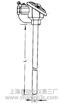 WZP-120无固定装配式热电阻安装图片