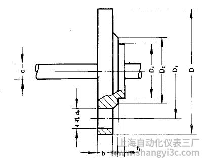 热电偶、热电阻用固定平焊钢法兰(C)型图片尺寸