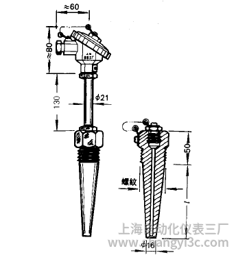 WRNR-15、WRER-15電站測溫專用熱電偶