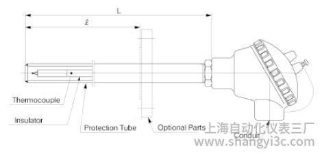 TCW:带户外型金属保护管图像的热电偶