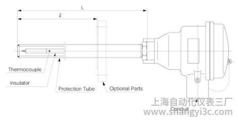 TCG:具有防爆/防火型金属保护管图像的热电偶