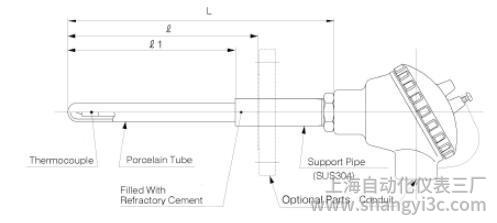 TCP:热电偶与户外类型非金属保护管图像
