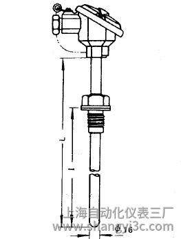 WRE-220固定螺纹热电偶安装图片