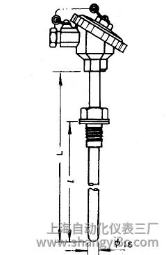 WRE-230固定螺纹热电偶安装图片