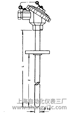 WRE-430A固定法兰热电偶安装图片