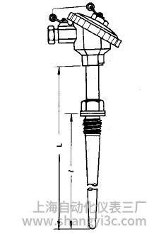WRE-631錐形套管熱電偶安裝圖片