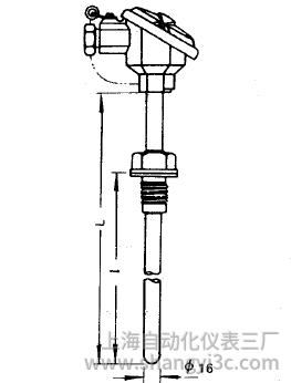 WRN-220固定螺紋熱電偶安裝圖片
