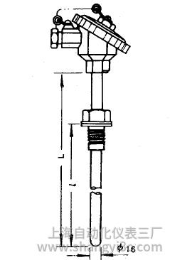 WRN-230固定螺紋熱電偶安裝圖片