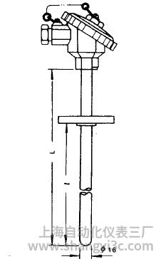 WRN-430固定法兰热电偶安装图片