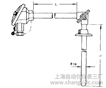 WRN-520直角形热电偶安装图片