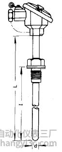 WRP-220铂铑热电偶安装图片及尺寸