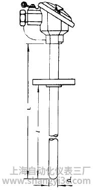WRR-420双铂铑热电偶安装图片