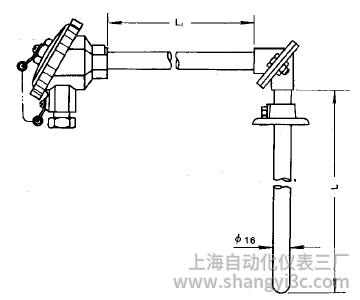 WRE-530直角形裝配式熱電偶安裝圖片