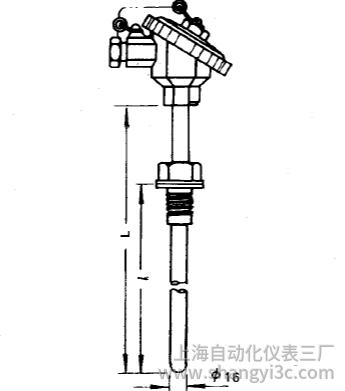 WRN-230A固定螺紋裝配式熱電偶安裝圖片