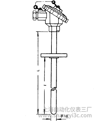 WRN-430固定法兰装配式热电偶安装图片