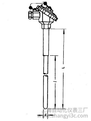 WRP-130无固定防水接线盒铂铑热电偶安装图片
