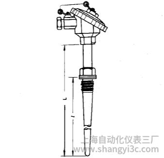 WRE-631固定螺纹防水接线盒锥形保护管热电偶安装图片