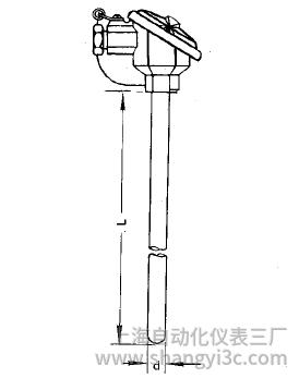 WZP-120无固定防溅式热电阻安装图片