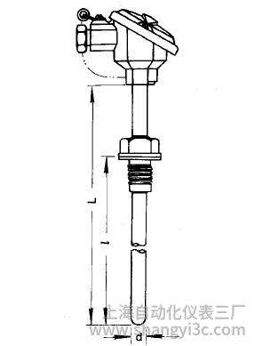 WZC-220固定螺纹防溅式铜热电阻安装图片