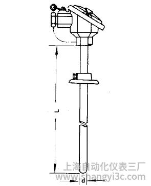 WZC-320活动法兰防溅式铜热电阻安装图片