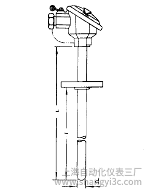 WZC-420固定法兰防溅式铜热电阻安装图片
