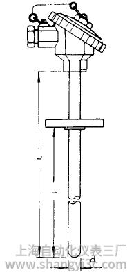 WZP-431固定法蘭防水式熱電阻安裝圖片