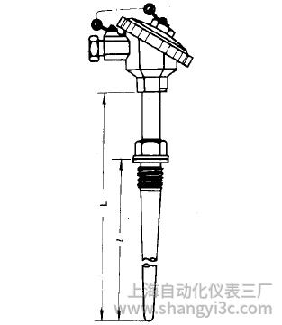 WZP-631固定螺纹锥形套管防水式热电阻安装图片