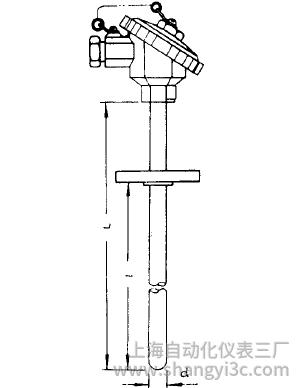 WZP-430A固定法兰装配式热电阻安装图片