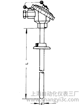 WZP-331活动法兰装配式热电阻安装图片